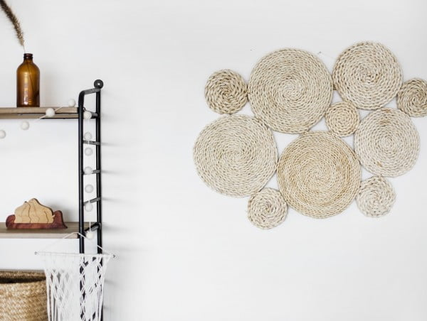DIY Raffia Wall Hanging #walldecor #wallhanging #DIY #craft #homedecor