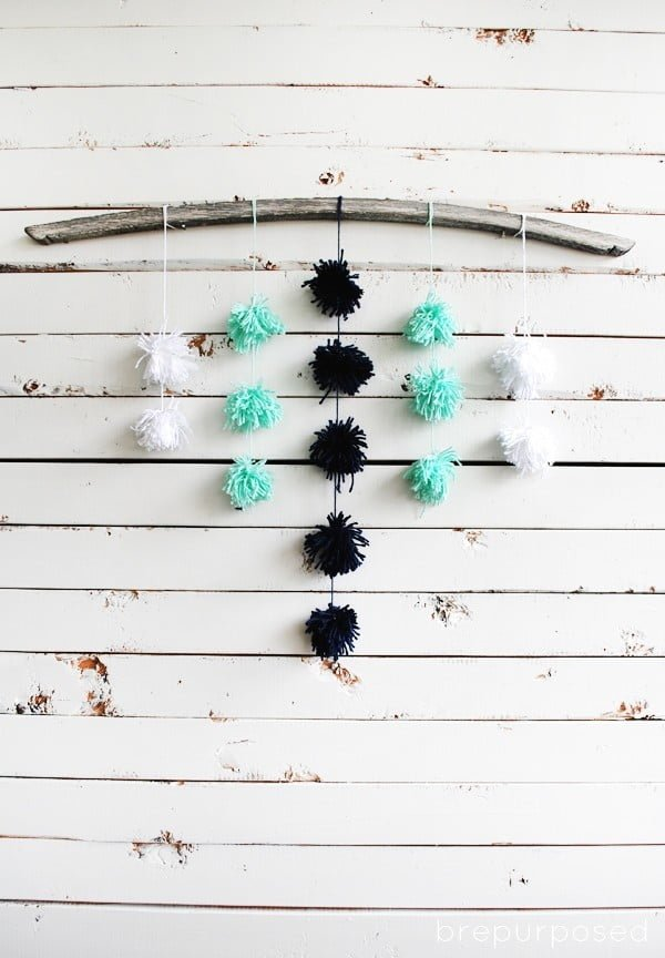 DIY Pom Pom Wall Hanging :: Monthly DIY Challenge