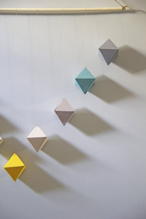 DIY Geometric Paper Wall Hanging