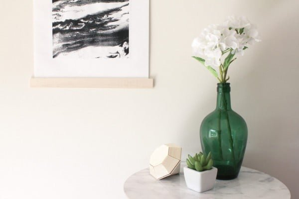 DIY Balsa-Framed Wall Hanging