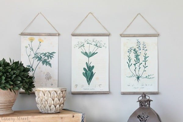 DIY Botanical Print Wall Hanging