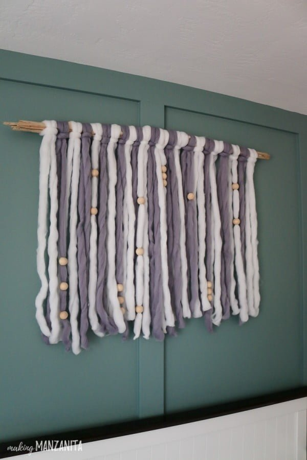 DIY Yarn Wall Hanging For Boho Nursery