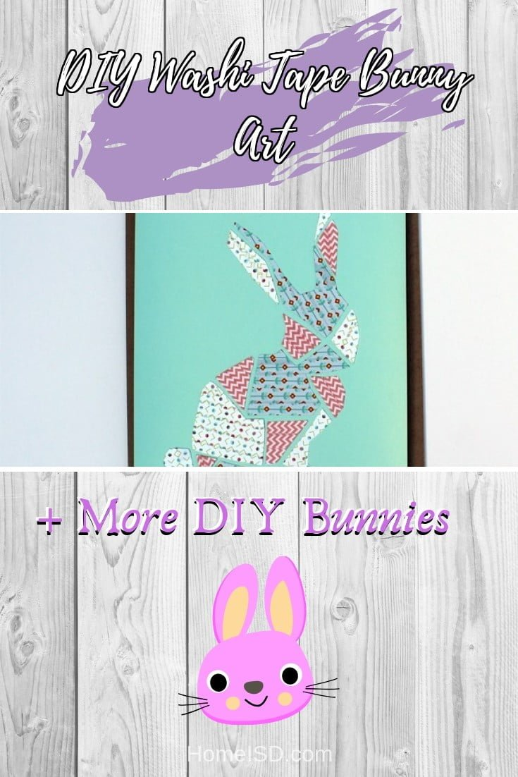 DIY Washi Tape Bunny Art  s art