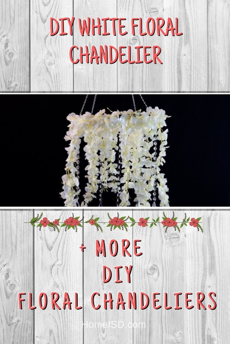 DIY White Floral Chandelier #chandelier #DIY #floral #homedecor #craft