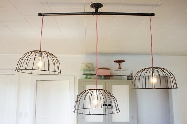 DIY Wire Basket Lights