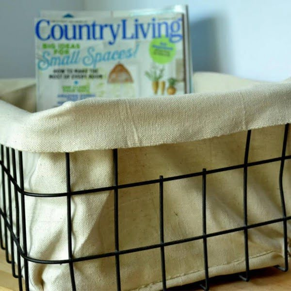 DIY Fabric Lined Industrial Basket: A Home Decor Tutorial