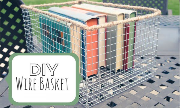 Rustic Wire Basket DIY