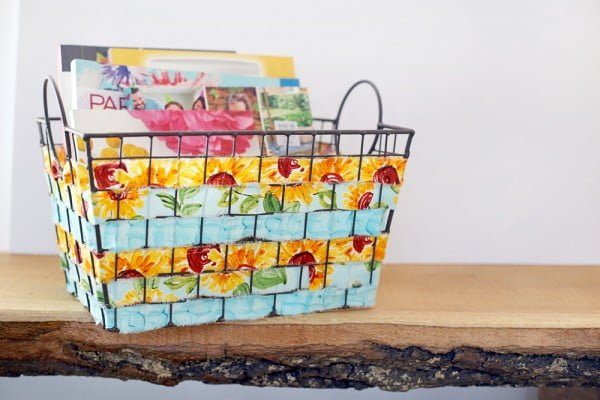 DIY Fabric Woven Wire Basket