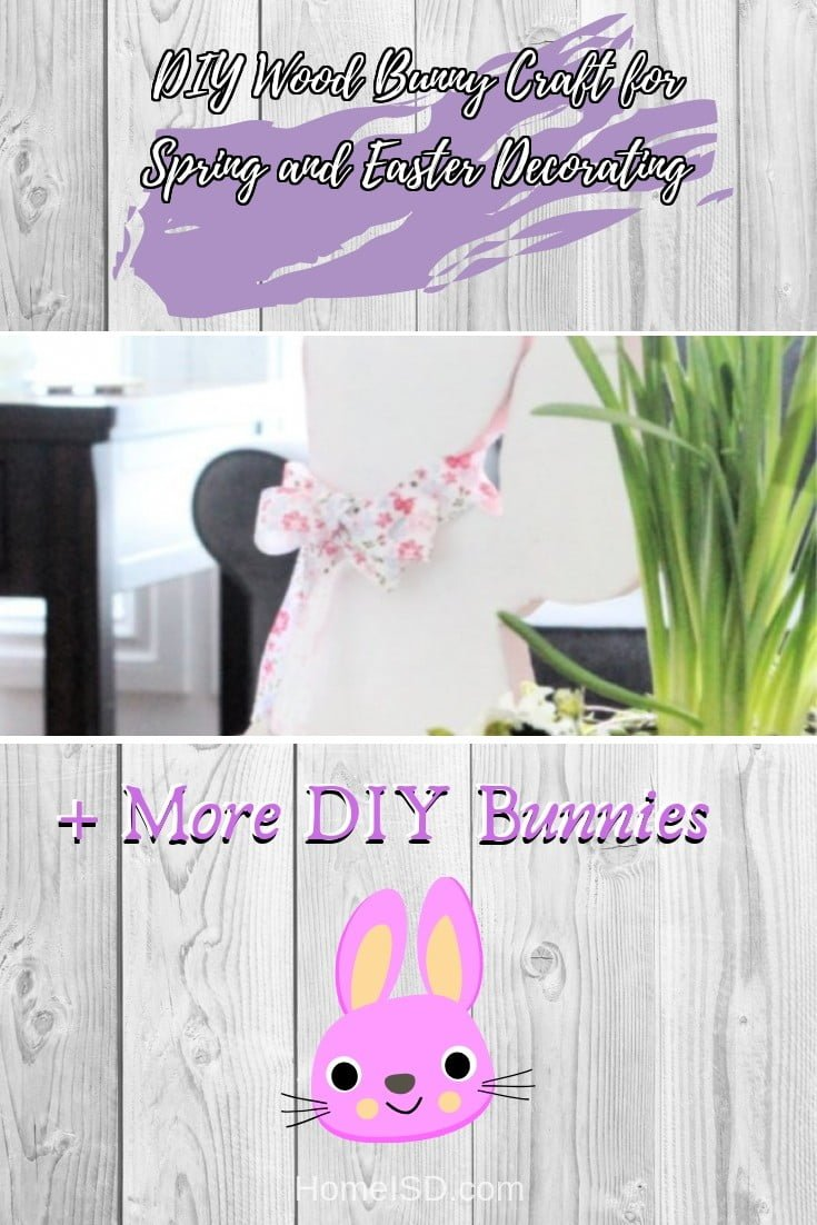 DIY Wood Bunny Craft for Spring and Easter Decorating  s art