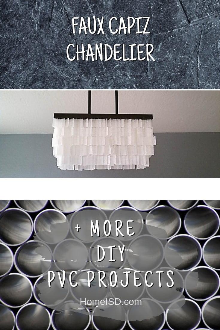Faux Capiz Chandelier #pvc #DIY #craft #homedecor