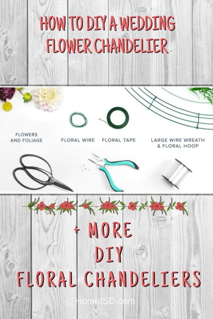 How to DIY a Wedding Flower Chandelier