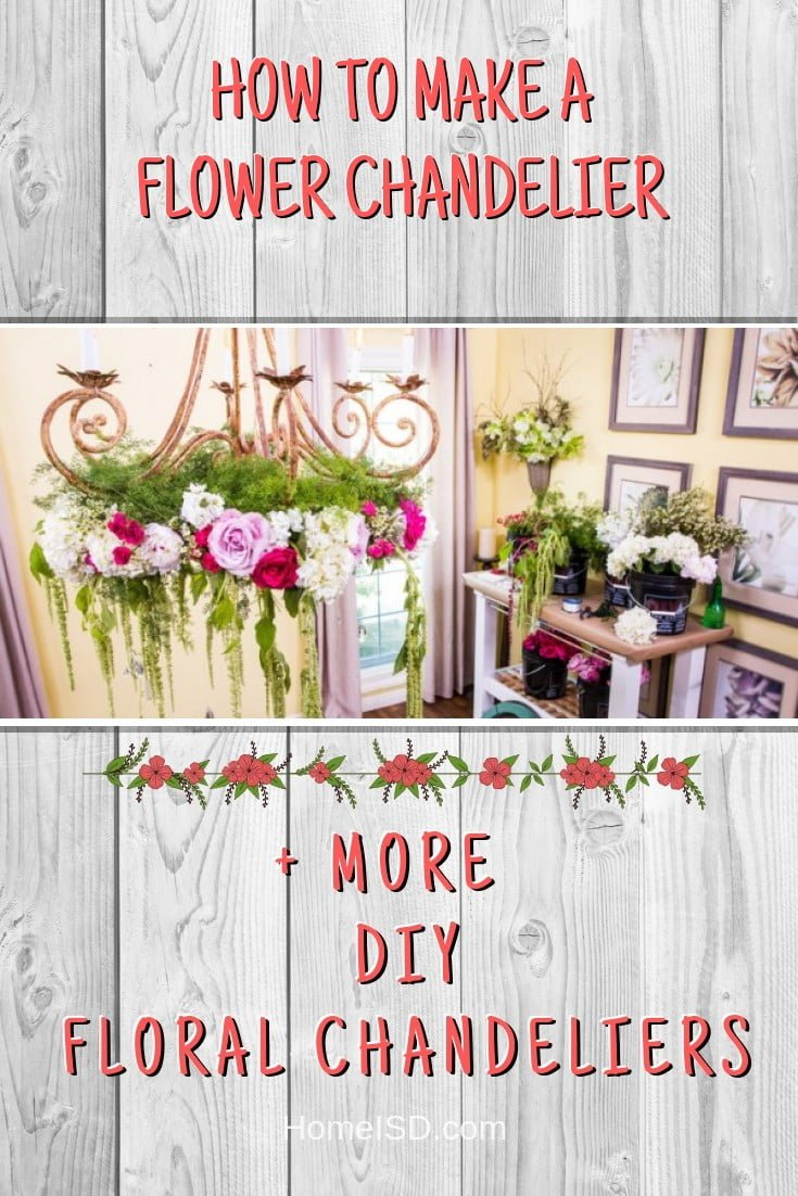 How to Make a Flower Chandelier #chandelier #DIY #floral #homedecor #craft