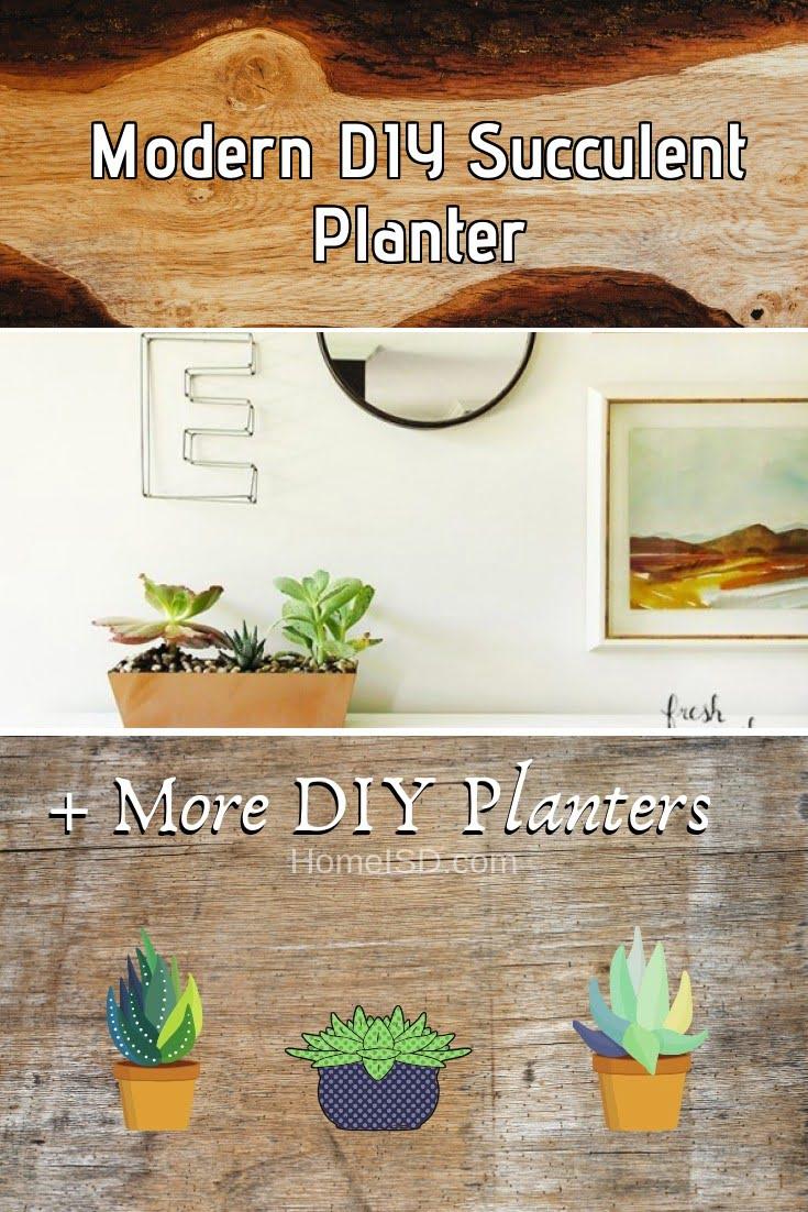 Modern DIY Succulent Planter