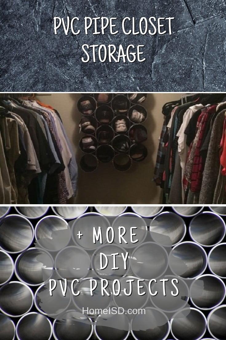 PVC Pipe Closet Storage #pvc #DIY #craft #homedecor