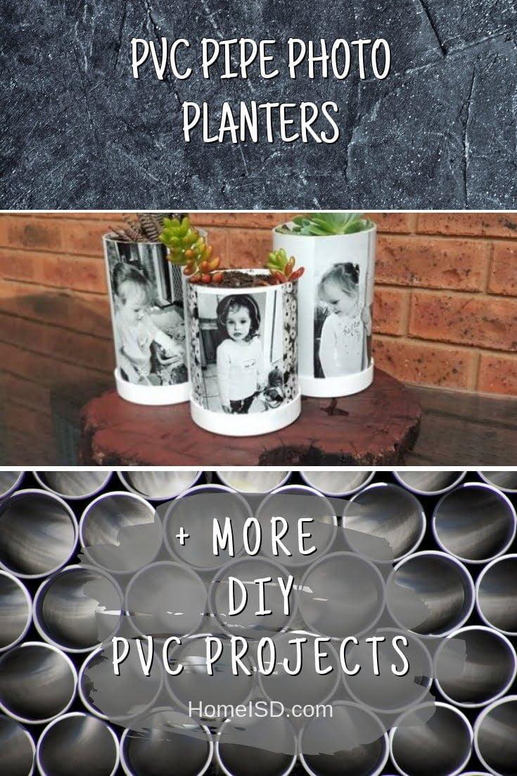 PVC Pipe Photo Planters #pvc #DIY #craft #homedecor