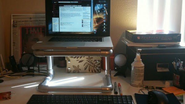 DIY PVC Pipe Laptop Stand  pipe