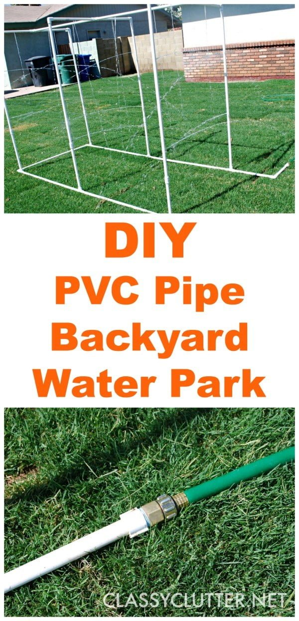 DIY PVC Backyard Water Park  pipe
