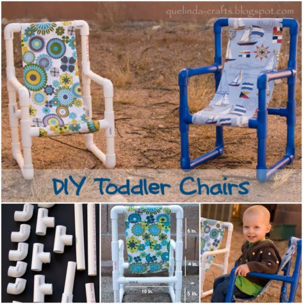 Wonderful DIY PVC Pipe Toddler Chairs  pipe