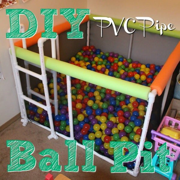 DIY PVC Pipe Ball Pit!  pipe