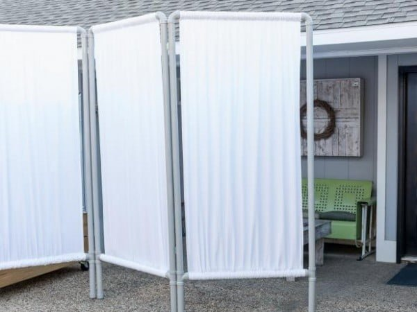 How to Make an Outdoor Privacy Screen From PVC Pipe  pipe