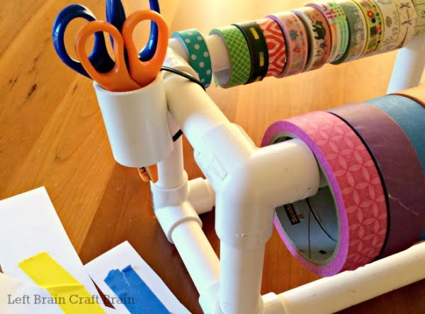 DIY PVC Pipe Tape Dispenser  pipe