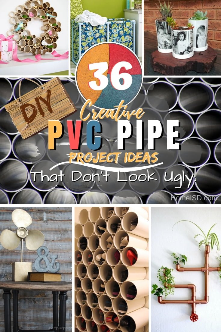 Make brilliant PVC pipe projects for your home that are pretty too. Great ideas! #homedecor #DIY #pvcpipe #pvc