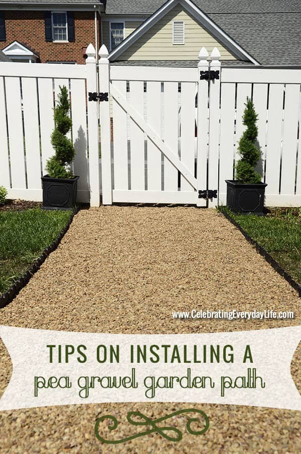 Have the Best Yard on the Block with a DIY Pea Gravel Path #DIY #outdoor #garden #gardenpath #backyard