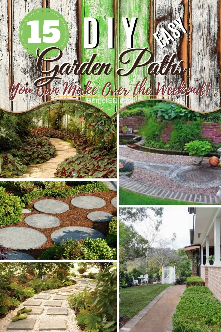 Looking for a great outdoor project in your backyard or garden? How about a new beautiful garden path? These are some great ideas! #garden #gardenpath #DIY #outdoors