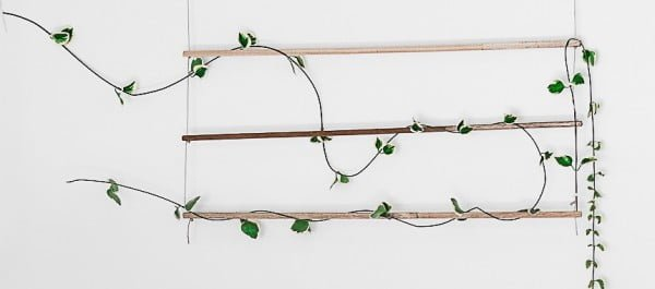 DIY: An Indoor Trellis for Climbing Vines #DIY #indoor #trellis #houseplants #homedecor