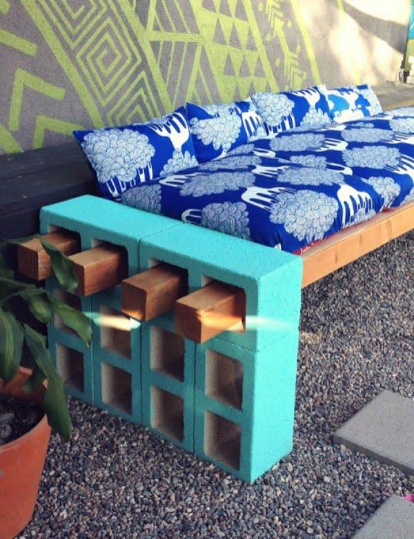 DIY Outdoor Furniture #DIY #outdoor #project