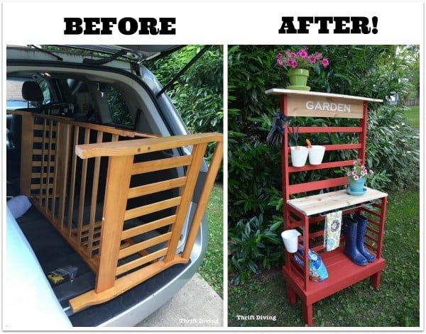 #DIY #outdoor #patio #backyard #pottingbench #furniture #woodworking