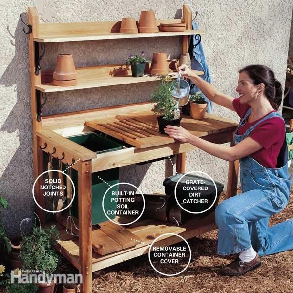 How to Build a Cedar Potting Bench