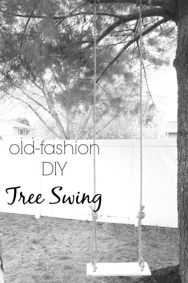 Old Fashion DIY Tree Swing