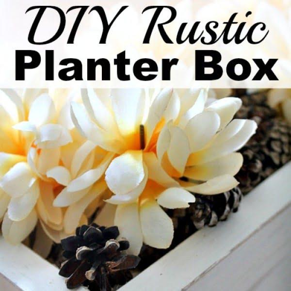 DIY Rustic Planter Box #DIY #windowbox #planter #gardening