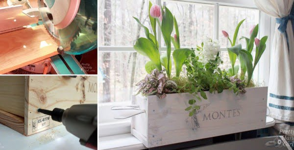 How to Make Window Box from a Wine Crate