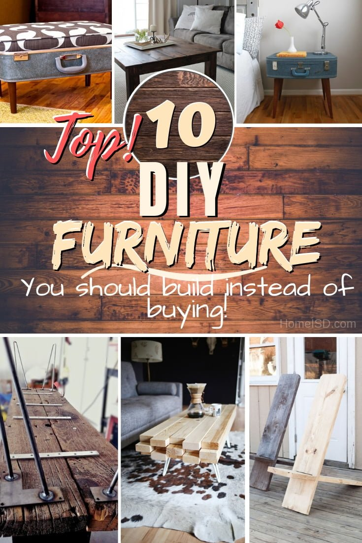 You should DIY these types of furniture rather than buying. With tutorials! #DIY #homedecor #furniture #woodworking