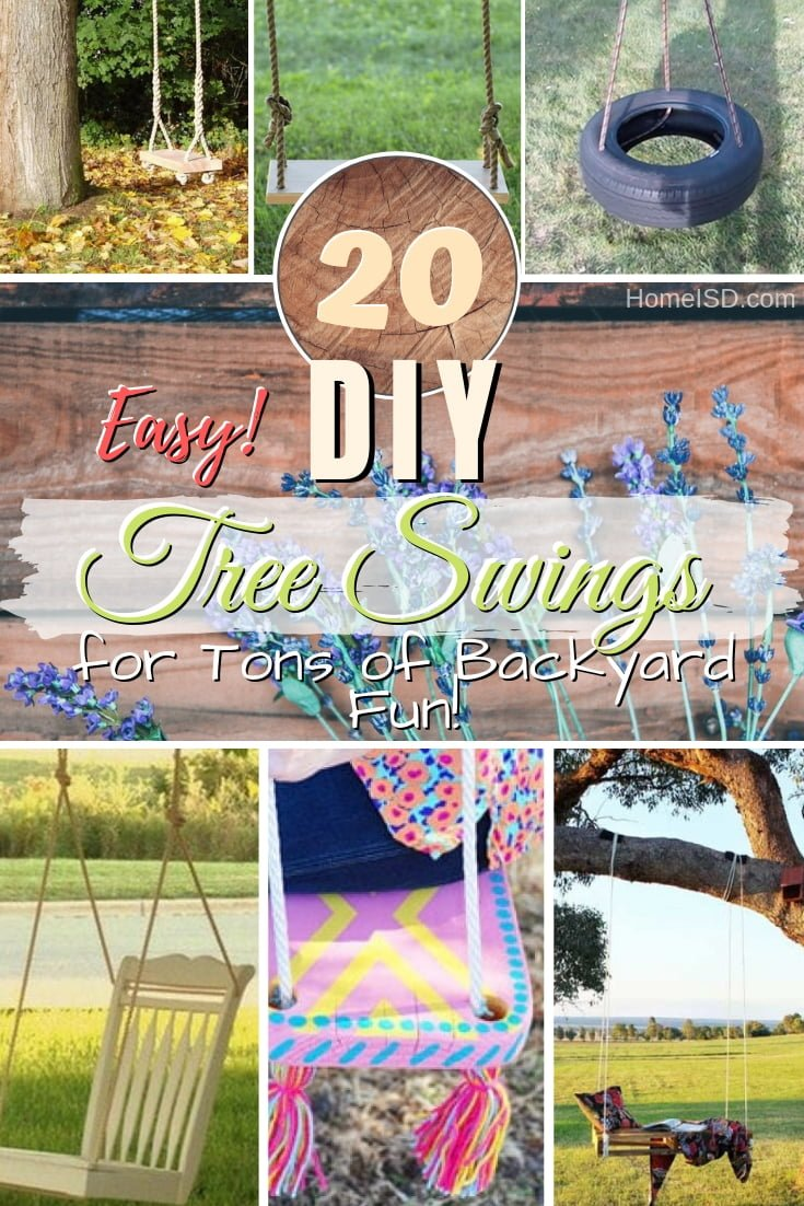 It's time to have some fun in the backyard! Check out the easiest DIY tree swings you can make! #DIY #treeswing #outdoor #backyard