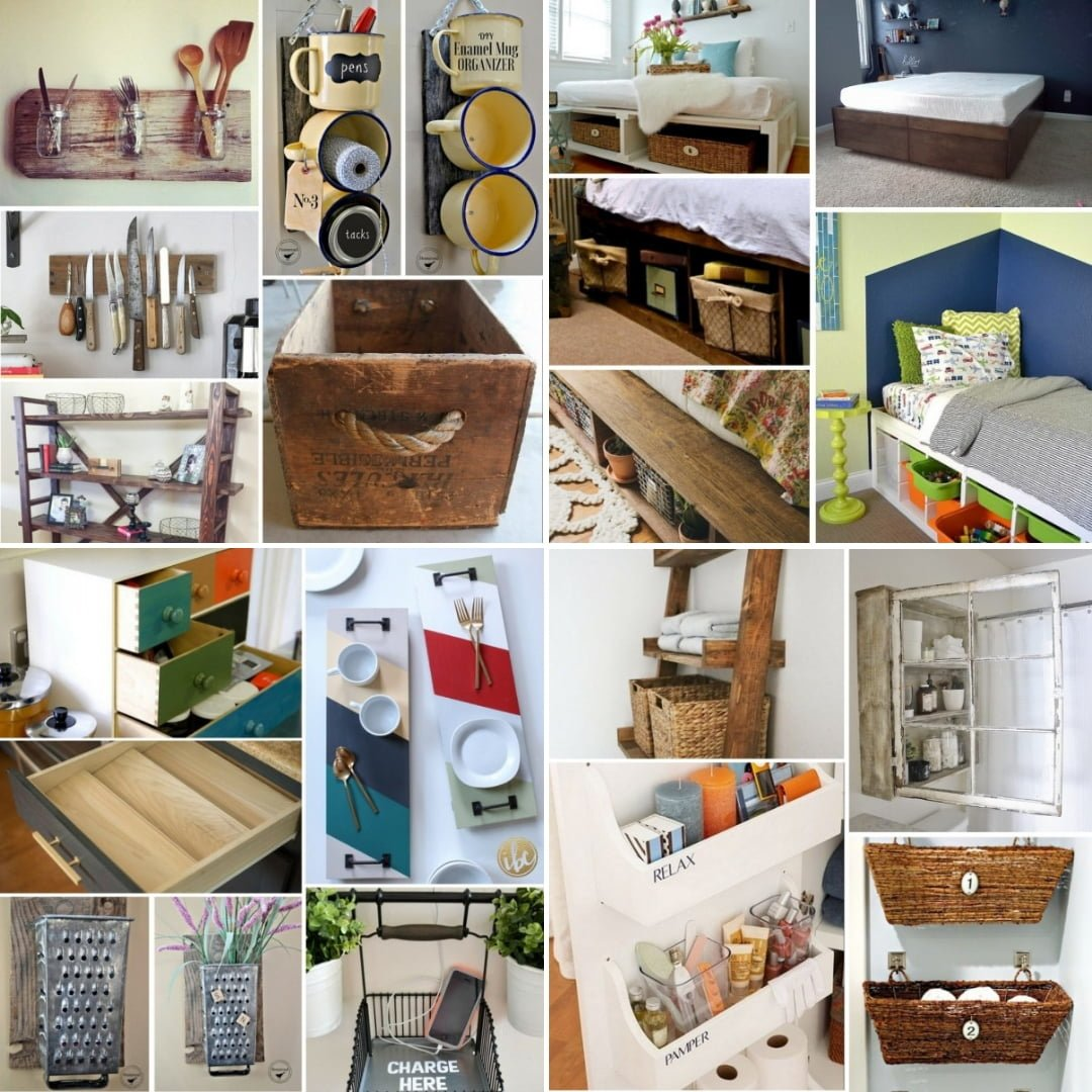 Easy Storage Idea: 400+ Easy DIY Storage Ideas