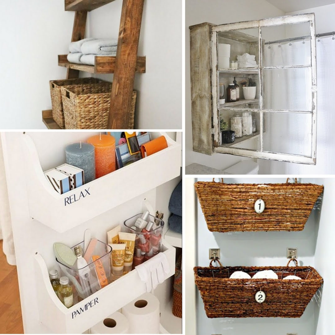 25 Easy DIY Bathroom Storage Ideas On A Budget