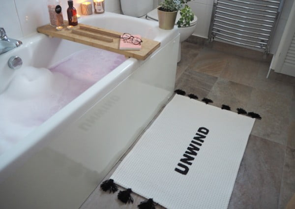 DIY Slogan Bath Mat