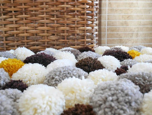 How to make a bathroom pom pom rug
