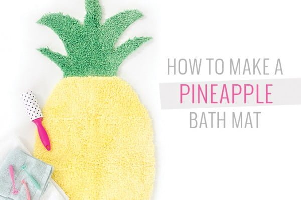 How To Make A Pineapple Shaped Bath Mat