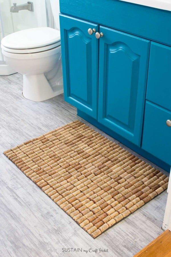 How to Make a DIY Wine Cork Bath Mat