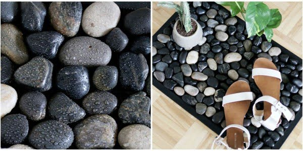 This River Stone Bath Mat Adds a Beautiful Touch of Nature to Your Bathroom