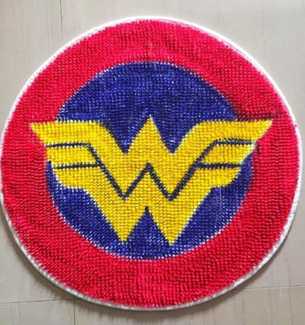 DIY Wonder Woman Mat
