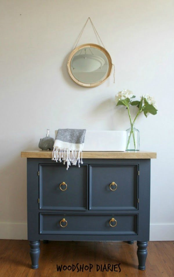 24 Easy DIY Bathroom Vanity Plans for a Quick Remodel   decor