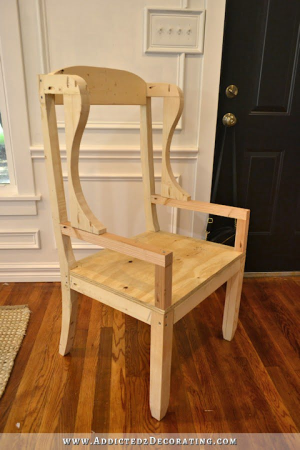 DIY Wingback Dining Chair #DIY #chair #woodworking #furniture