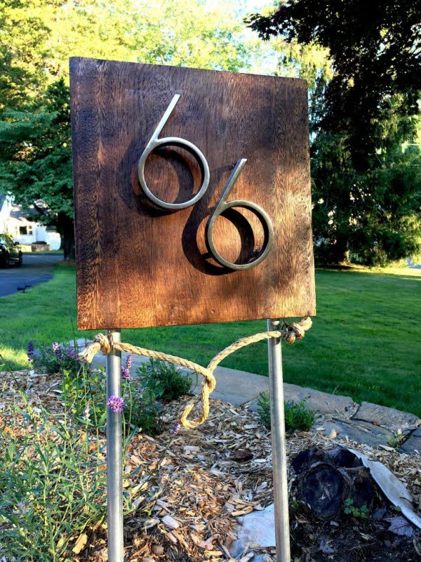 Coastal DIY: Mid-Century Modern Address Sign