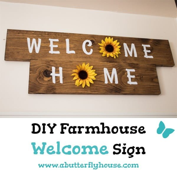 Welcome Home Sunflower DIY Wall Decor    working