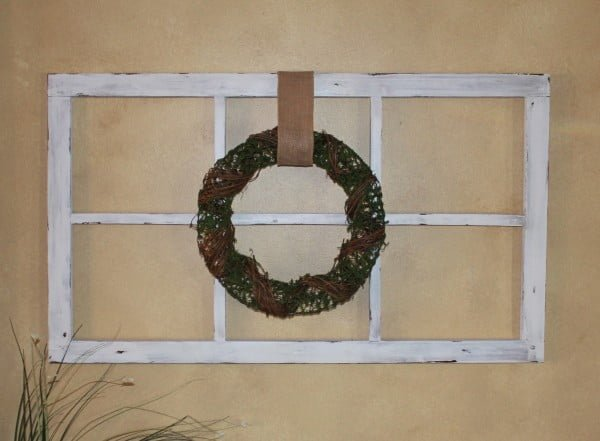 Old Antique Window Frame; DIY From Scrap Wood    working